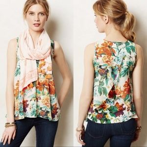ANTHROPOLOGIE | Meadow Rue Merlon Floral Tank Top